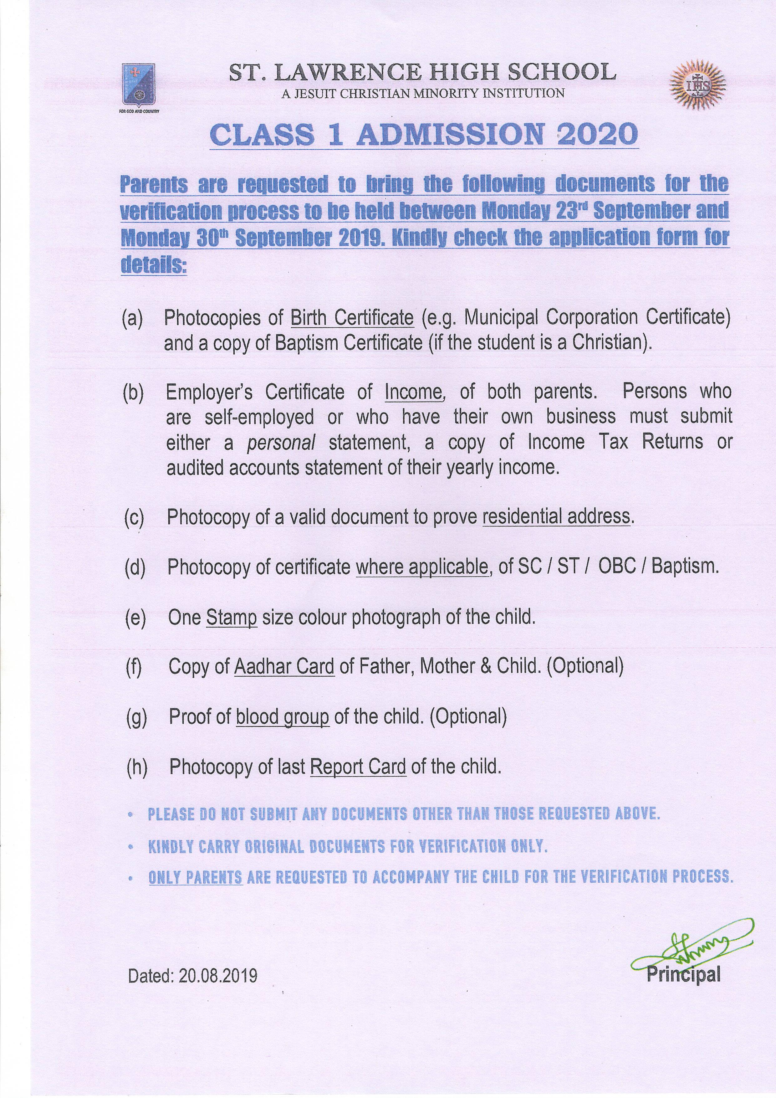 St Lawrence Kolkata :: Syllabus and Model Question Answers