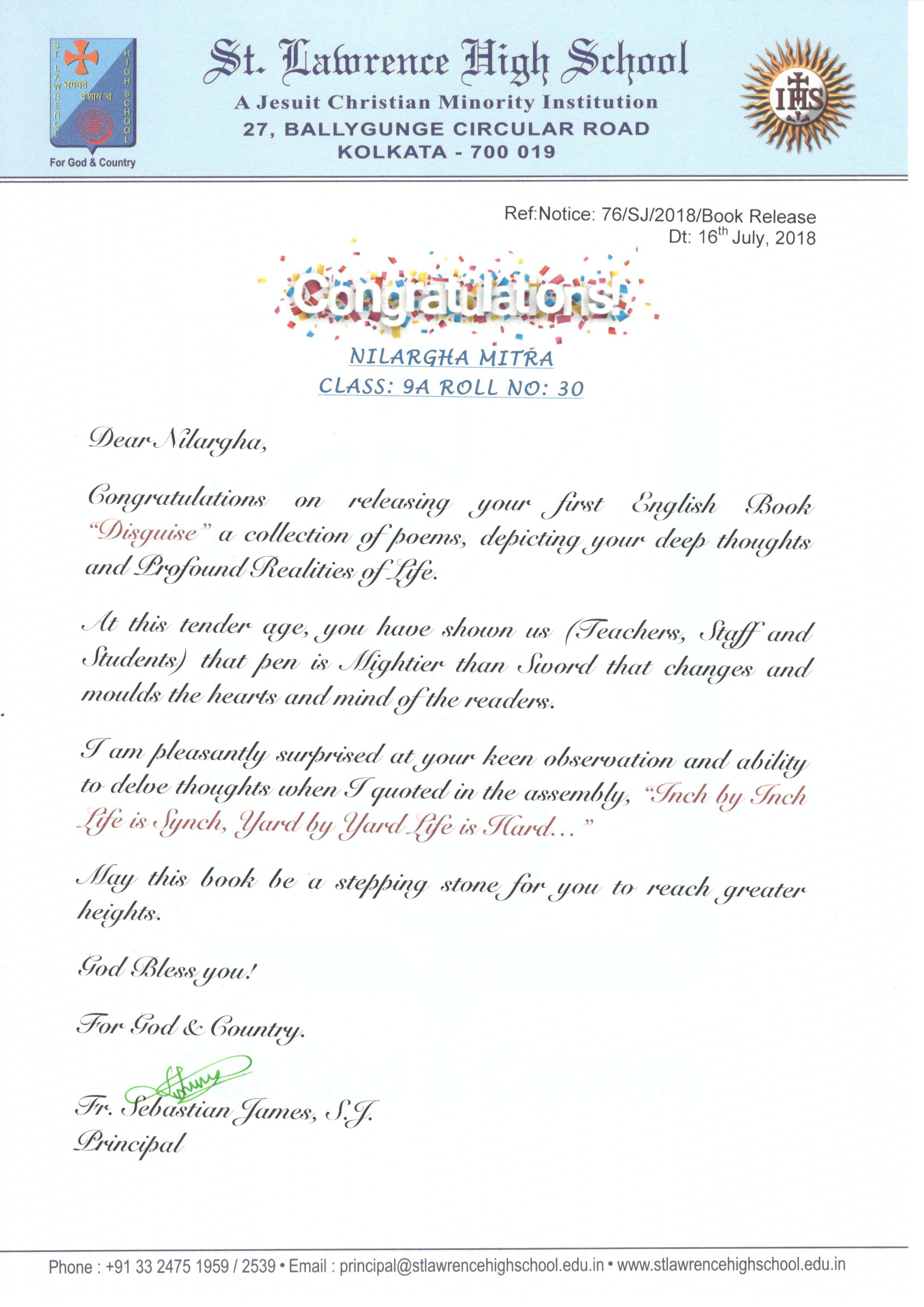 Congratulation - Nilargha Mitra