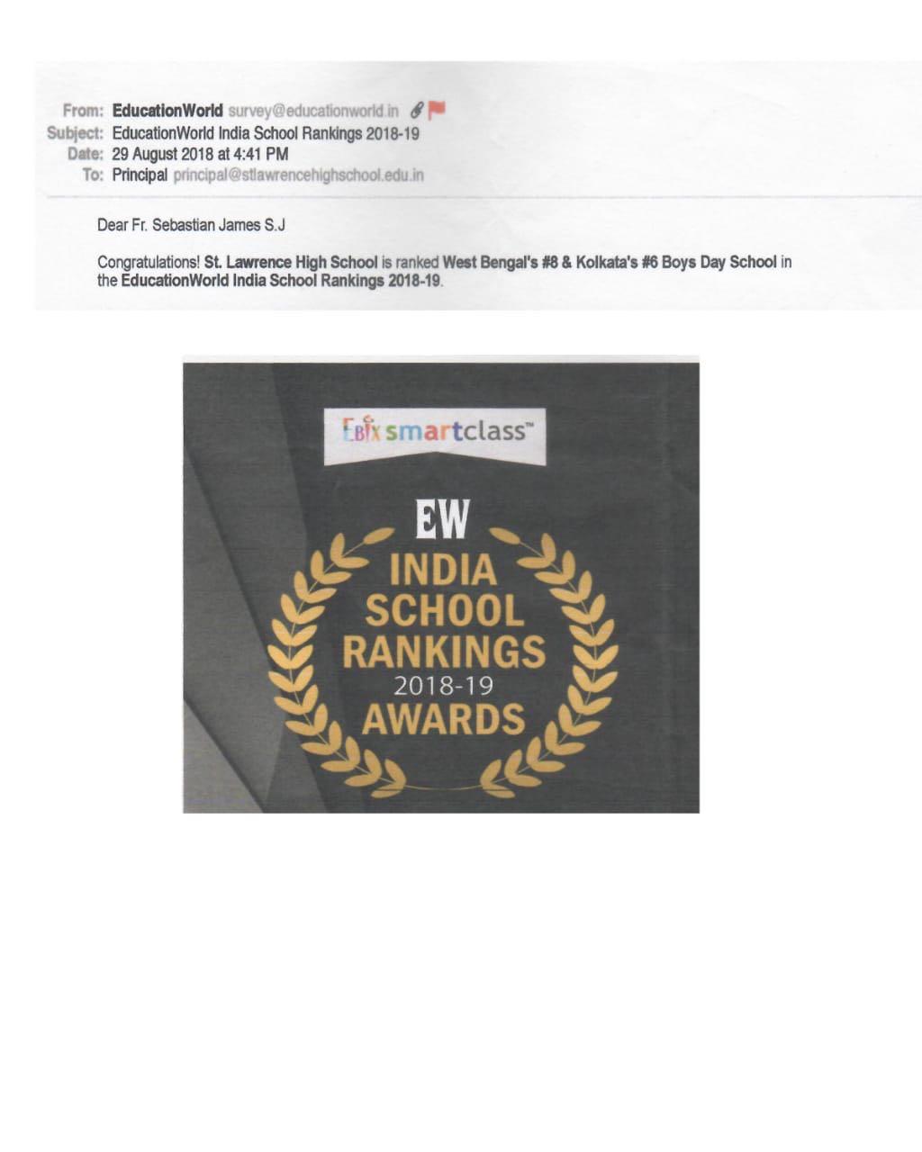 EW india school rankings