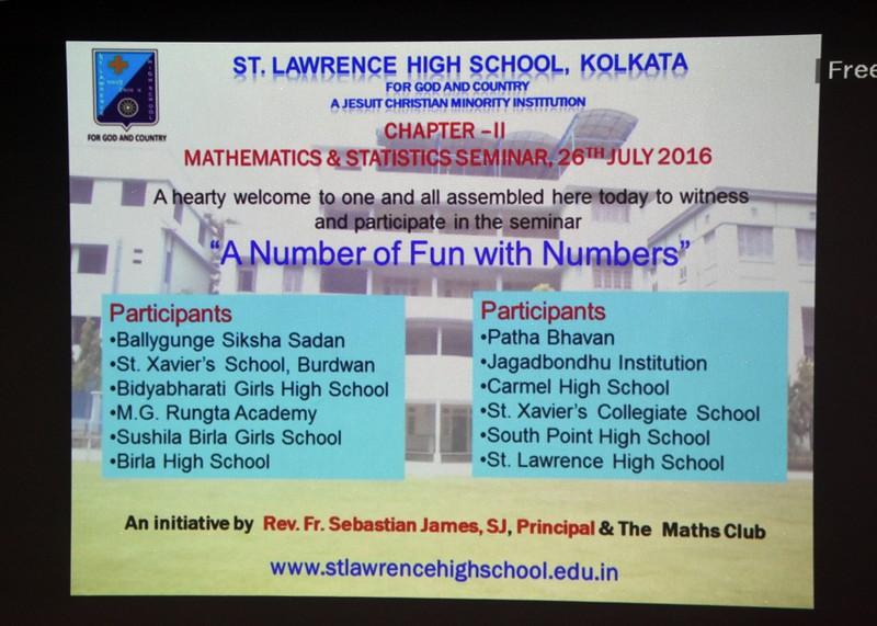 Maths and Stats Seminar  2016