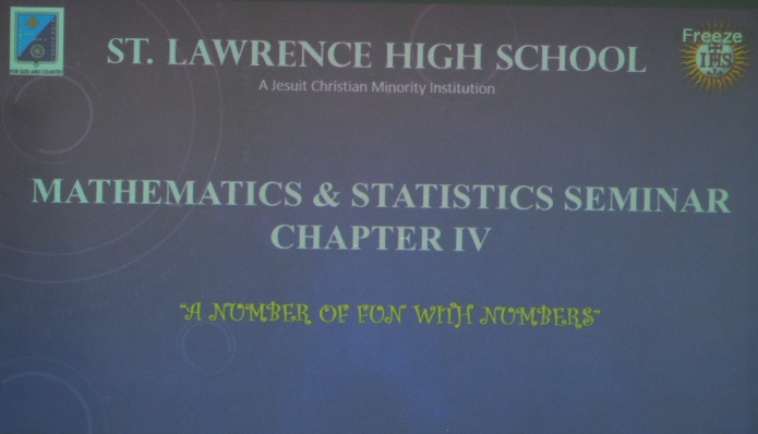 Mathematics & Statistics  Seminar Chapter  IV -  14th September 2018