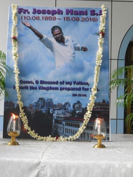 Condolence Assembly for Late Fr. Joseph Mani, SJ at Britto Stoa on 20.09.2016